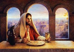 Jesus with the Bread and Wine