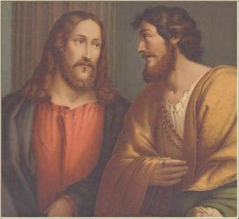 A picture depicting Jesus speaking with another man
